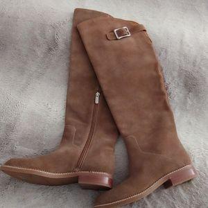 Tan suede Franco Sarto boots, size 5